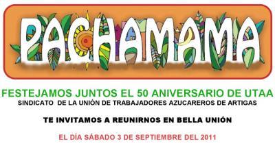 sábado 3 de setiembre todos a Bella Unión , con motivo del 50 aniversario de Utaa